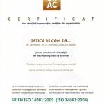Certificat SRAC ISO 14001