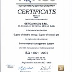 Certificat IQNET -ISO-14001