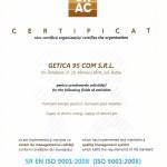 Certificat SRAC ISO 9001