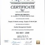 Certificat IQNET - ISO-9001